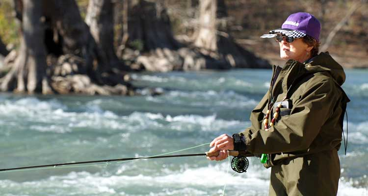 texas fly fishing school rod demo