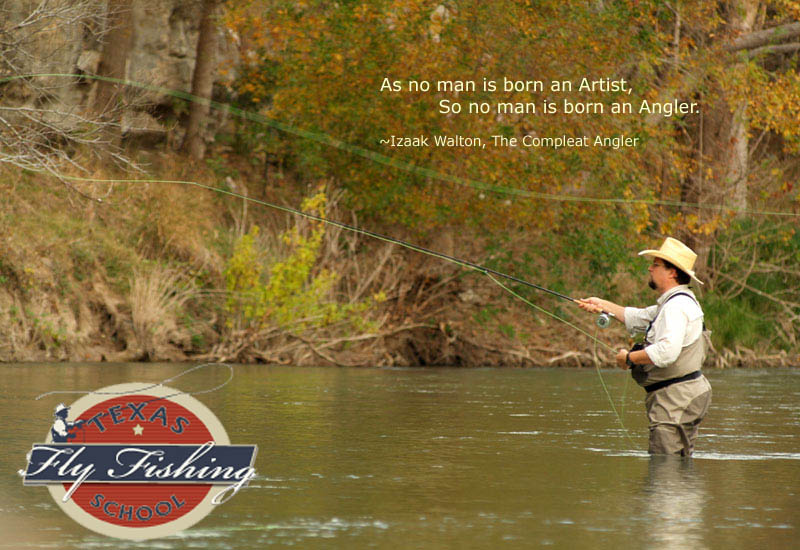 Fly Fishing on the Guadalupe River in Texas - tight loop